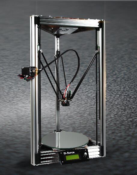 Dforce deltabot imprimante 3d atom rostock pour kossel peut être mis à niveau à deux extrudeuses kit d-force