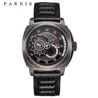 Parnis 44 мм Мужские механические часы тритий сапфир Mirrow кожа Diver автоматические часы мужские подарки
