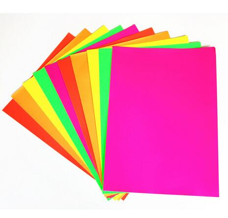 5 Colors 80gs Color Single Side Adhesive Paper For Children Craft