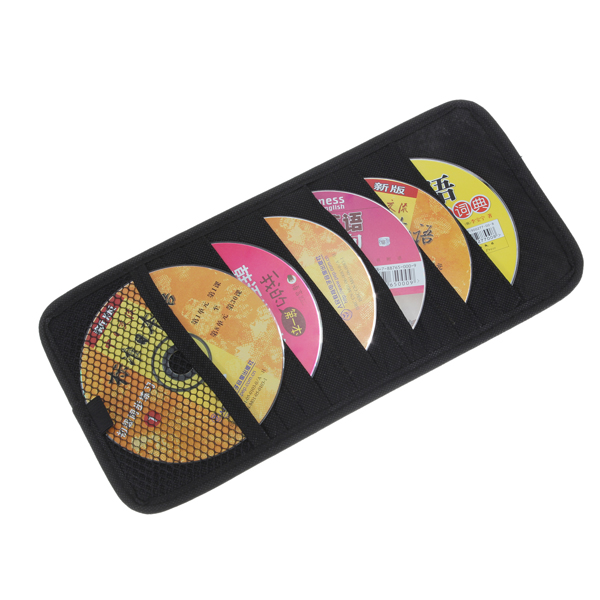 EDFY 12 Disc CD DVD Car Sun Visor Card Case Wallet Storage Holder Bag Tidy Sleeve UK