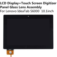 LCD Display + Touch Screen Digitizer Panel Glass Lens Assembly For Lenovo IdeaTab S6000 10.1inch Replacement Parts Repair Part