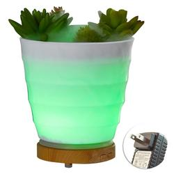 100 ml ultradźwiękowy nawilżacz powietrza zapachowy olejek eteryczny dyfuzor rośliny doniczkowe nawilżacz Mist Fogger ekspres do kolorowe światło nocne w Nawilżacze powietrza od AGD na