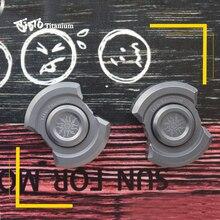 TiTo EDC titane alliage polyvalent décapsuleur rotatif jouet outils météorite porte clés extérieur outils titane spinner