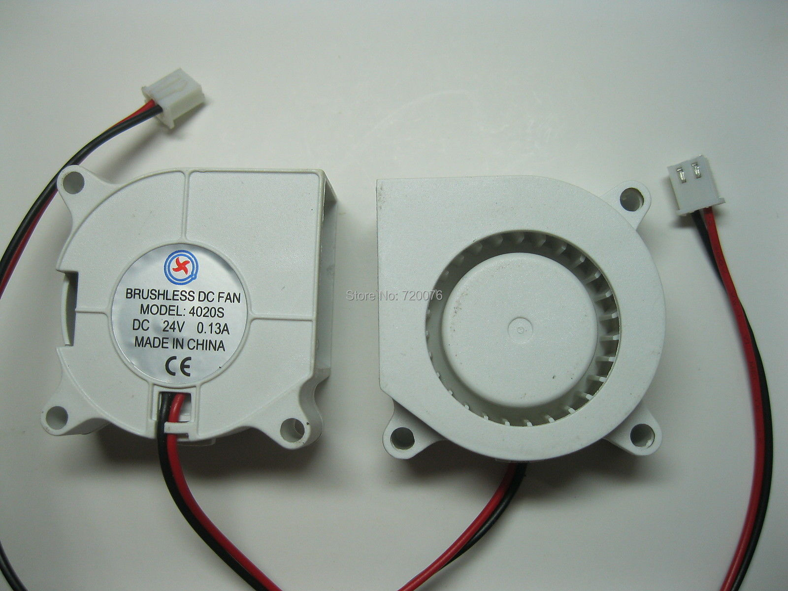 1 pcs Brushless DC Cooling Blower Fan 4020S 24V 40x20mm 2 Wires White