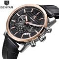 Reloj Hombre BENYAR модные спортивные мужские часы с хронографом Лидирующий бренд Роскошные военные кварцевые часы Relogio Masculino/BY-5104M