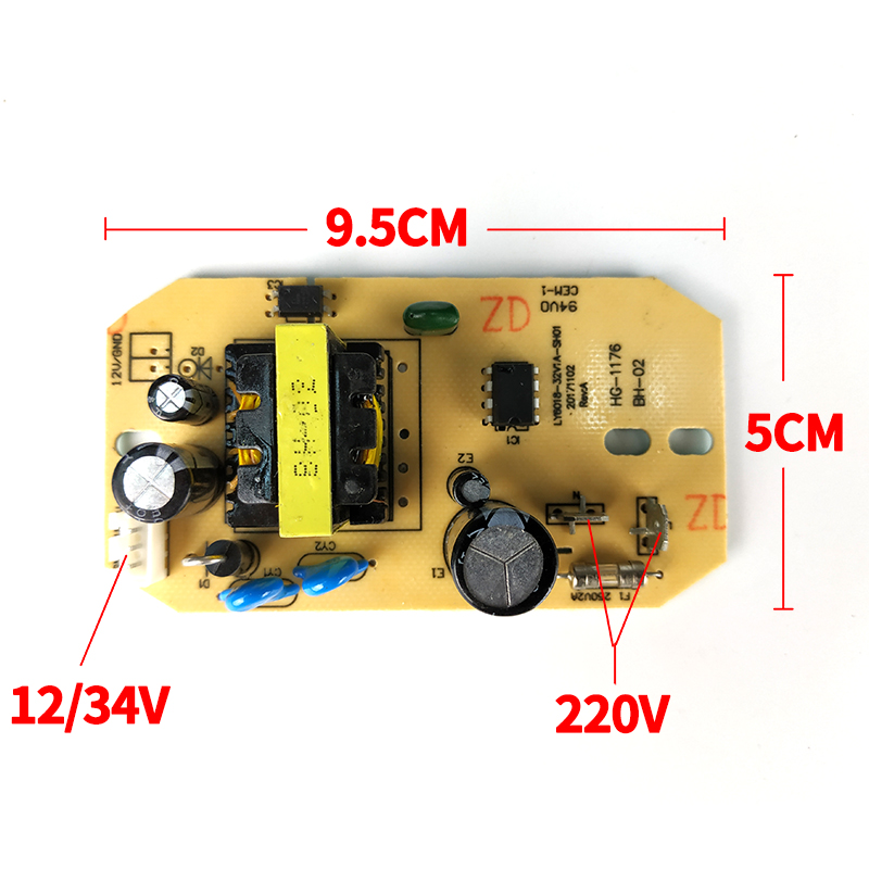 12V 34V Replacement Humidifier Parts Universal Humidifier Power Board Atomization Circuit Board  General Circuit Power Supply