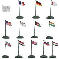 plastic model figure country flags 12pcs/set