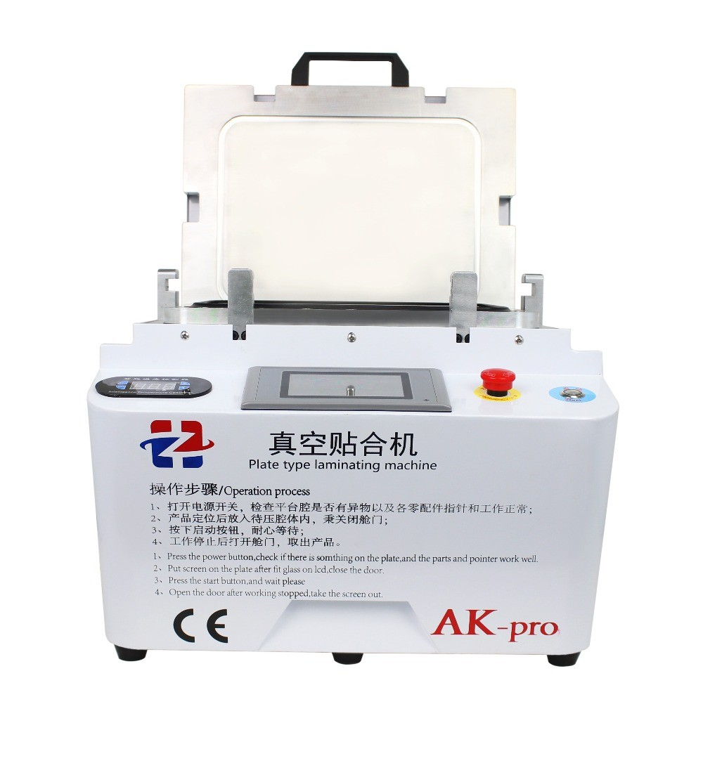 AK PRO plastifieuse oca Sous Vide machine de stratification d'affichage à cristaux liquides de réparation remise à neuf machine oca machine à plastifier pour iphone s6 edge