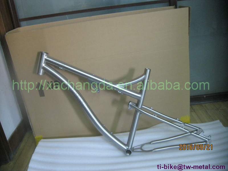 Bike-Frame Customized Full-Suspension Titanium MTB with Replaceable Dropout