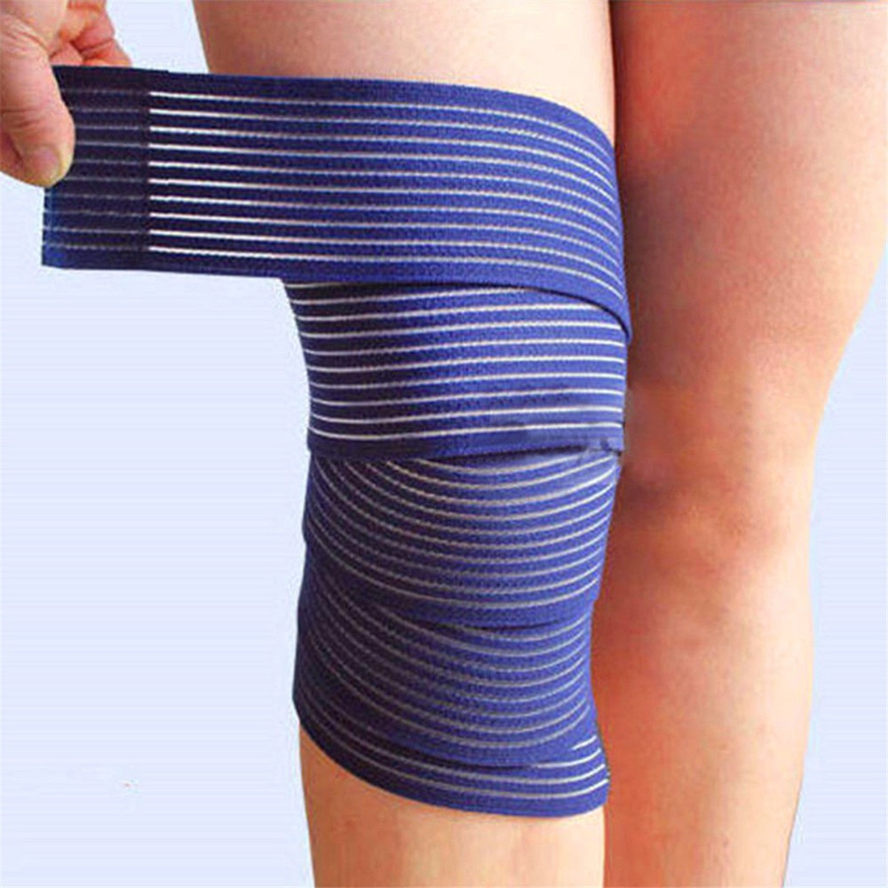 1pc Elastic Bandage Tape Sport Knee Support Strap Knee Pads