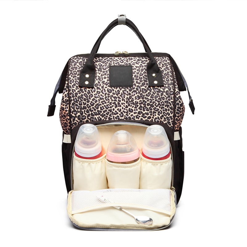 Fashion Leopard Mummy Maternity Diaper Bag Large Nursing Bag Baby Bag Baby Care Nappy Backpack Travel Backpack Designer StrollerFashion Leopard Mummy Maternity Diaper Bag Large Nursing Bag Baby Bag Baby Care Nappy Backpack Travel Backpack Designer Stroller