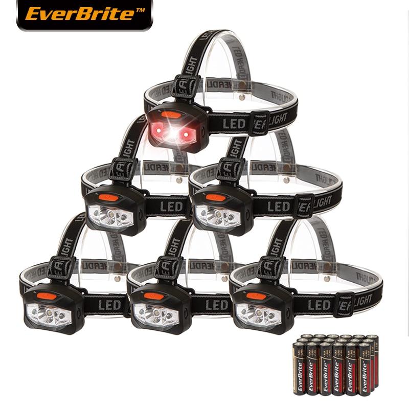 Everbrite-farben Led Scheinwerfer Taschenlampe Mit 2 Rote Lichter Camping Kopf Licht 6 Teil/los 120 Lumen Super Helle Durch Wissenschaftlichen Prozess Licht & Beleuchtung