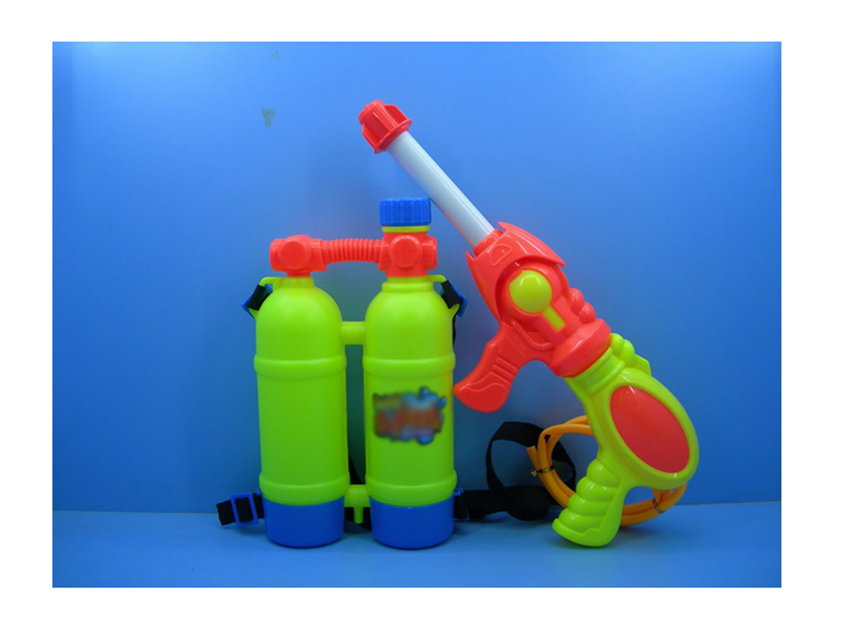 Child Summer Beach Gaming Water Gun Toy for Kids Outdoor Super Soaker Blaster Fire Backpack Pool Toy Set