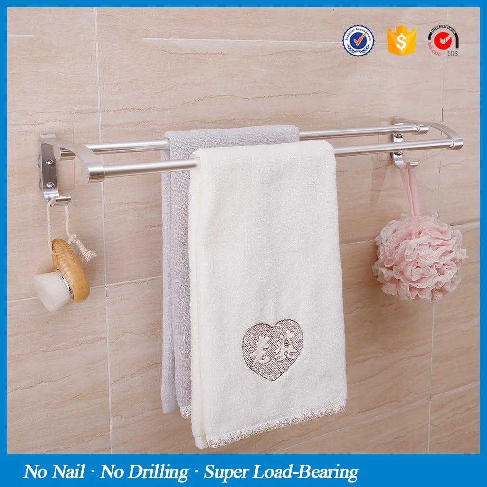 SBLE magic sticker no drill aluminum towel bar kitchen bath towel