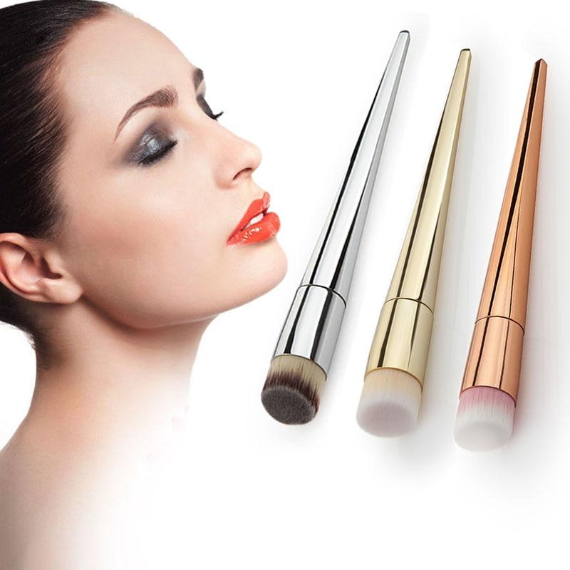 Pro Makeup Cosmetic Brushes Kabuki Contour Face Brush Powder Foundation Tool New 1pc tart makeup brushes bamboo handle loose brush for powder foundation contour brushes kabuki kit
