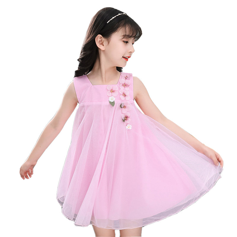 Baby Children Princess Dress 2018 New Summer Flower Girls Dress Sleeveless Fashion Kids Clothes 2 3 4 5 6 7 8 9 10 11 12 Years new girls bohemia children dresses summer beach dress floral v neck sleeveless dress jumpsuits maxi dress 4 6 8 10 12 14 years