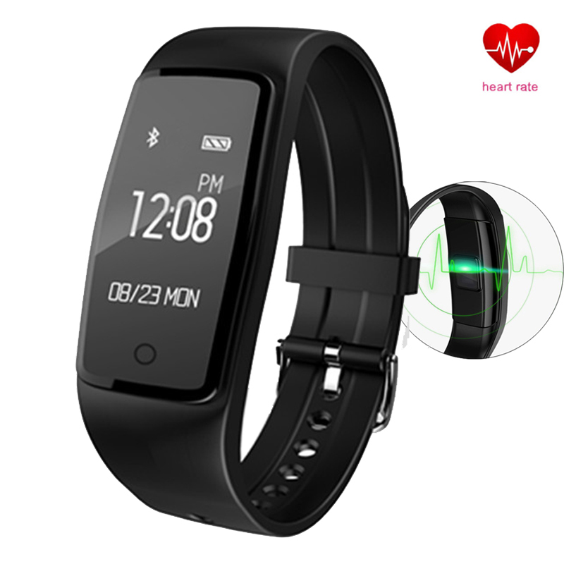 Heart Rate Smart Watch Pulse Monitor Bluetooth Sportident Tracker Pedometer Band S1 Sports Fitness Monitoring Bracelet s908 heart rate smart wristband gps track record smart band 2 sleep pedometer bracelet fitness tracker h908 smart watch relogio