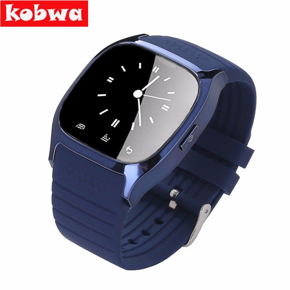 Kobwa m26 bluetooth smart watch smartwatch podómetro pantalla led reproductor de