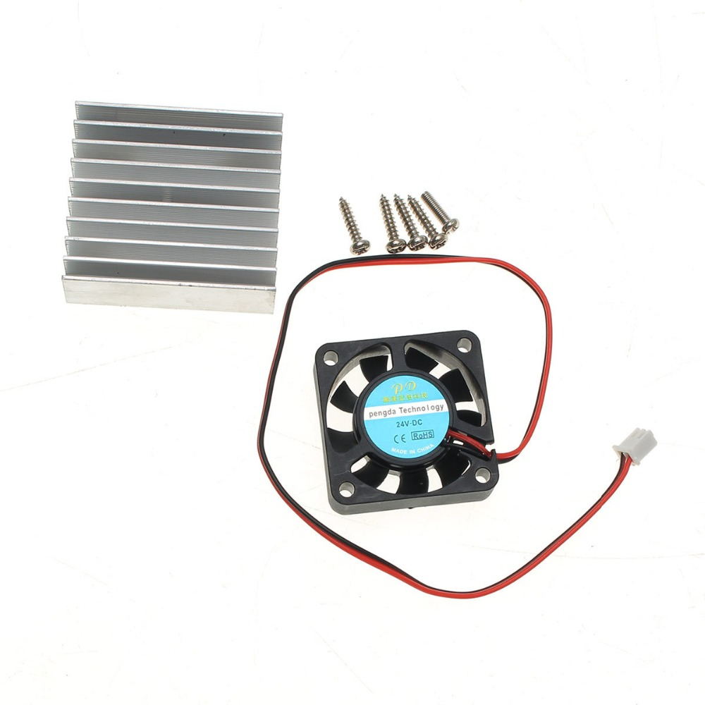 3 In 1 Heat Sink + Cooling Fan + Mounting Screws Kit For 0-30V 0-28V Universal Power Supply Module