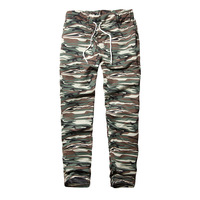Men S Camouflage Trousers Elasticated Camo Pants Trousers Casual Tracksuit Bottoms Closed Hem
