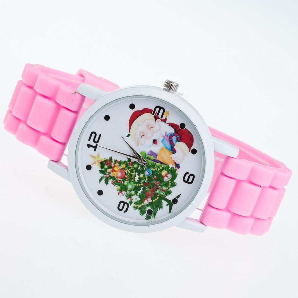 Classic Cartoon Christmas Gifts Children Color Fashion Watch Silicone Strap Wrist Watch Clock Minimalist Kids Watches LD