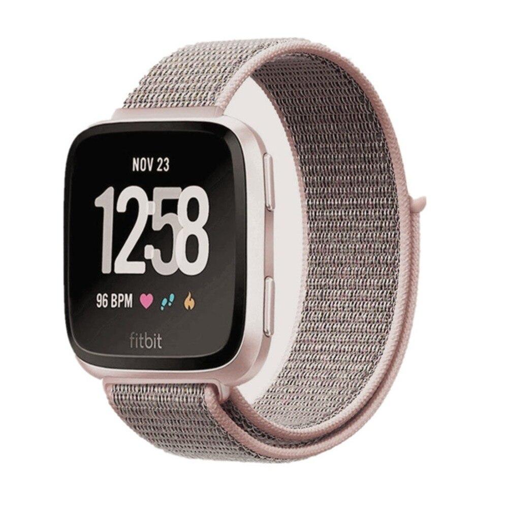 LNOP Sport Loop Per Fitbit versa tessuto fasce di nylon della cinghia della Fascia Del Braccialetto Cinghia Traspirante Lightweigh fitbit versa accessori