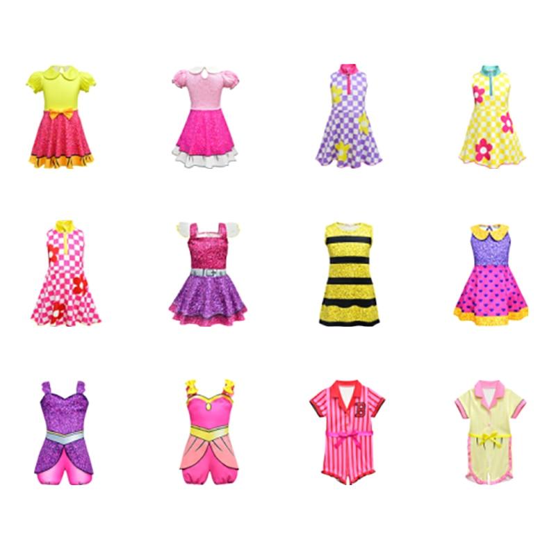 SurprisedDolls Cosplay Costumes Girls Dresses Halloween Costumes Kids Princess Dress Streetwear Cosplay Girls Fancy Party Dress