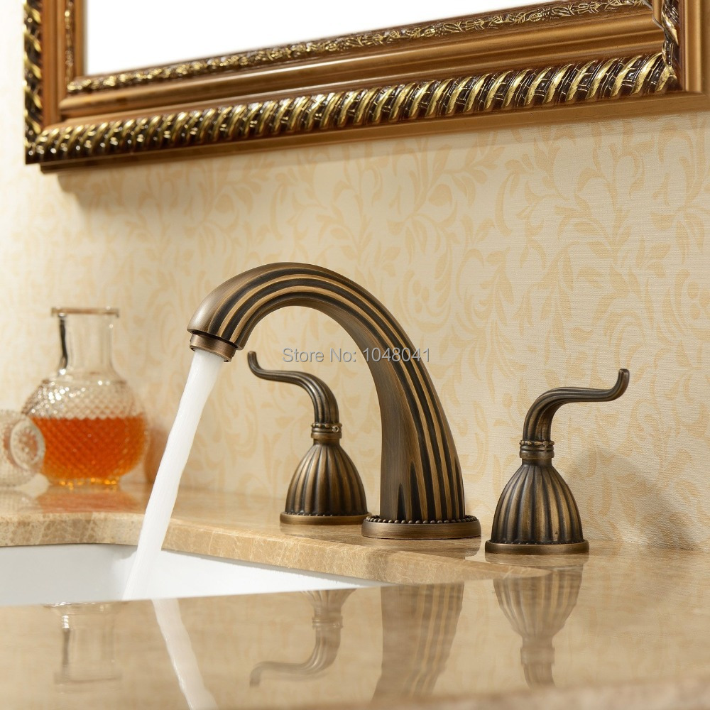 Luxury Classic Antique Inspired Solid Brass Deck Mount Two Handles ...