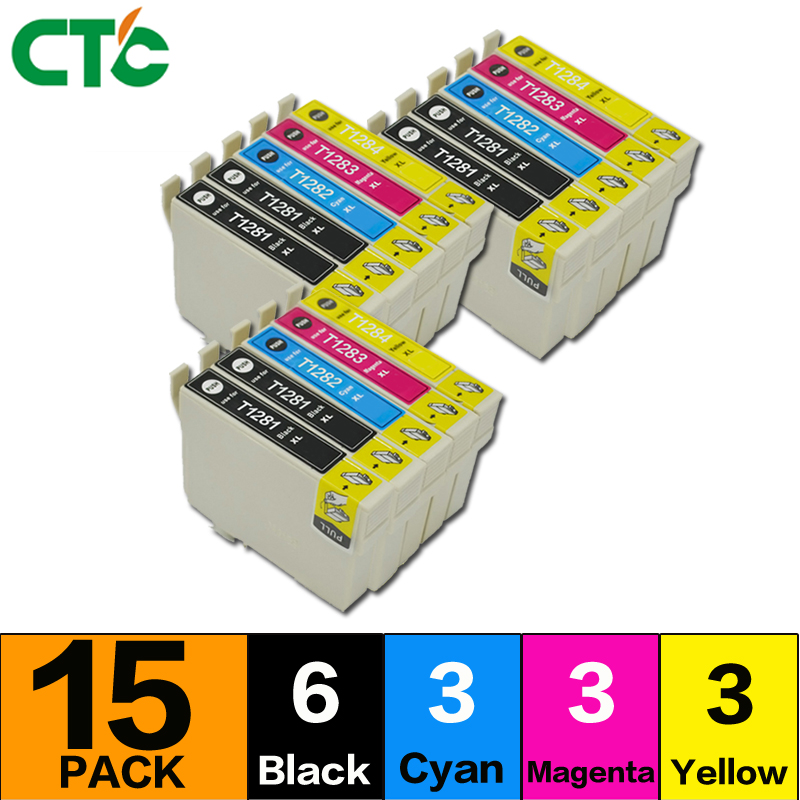 15 T1281 T1282 T1283 T1284 Ink cartridge for stylus S22 SX130 SX125 SX235W SX435W SX425W BX305F BX305FW Printer