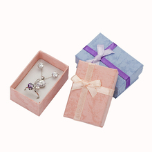 60 pcs. jewelry box earrings Chains and necklaces Packaging Gift box High quality Paper Jewelry Display with white sponge