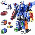 6 em 1 Caminhão Modelo de Carro Deformação Robô figura de Ação Brinquedos para Meninos Presente Transformação Robôs Brinquedos para Crianças Presente Para O Natal