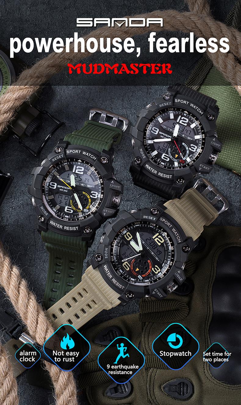 HTB1Wmg8QFXXXXbZXFXXq6xXFXXXP - 2017 SANDA Dual Display Watch Men G Style Waterproof LED Sports Military Watches Shock Men's Analog Quartz Digital Wristwatches