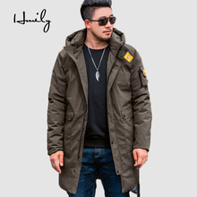HMILY long warm winter Jacket for men Fat Big Man brand clothing male cotton Warm coat quality Parkas Big Plus Size 7XL 8XL