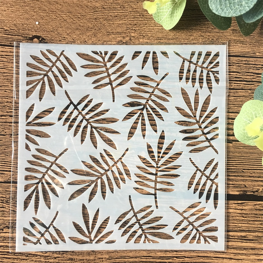 13cm Leaf DIY Craft Layering Stencils Wall Painting Scrapbooking Stamping Embossing Album Card Template