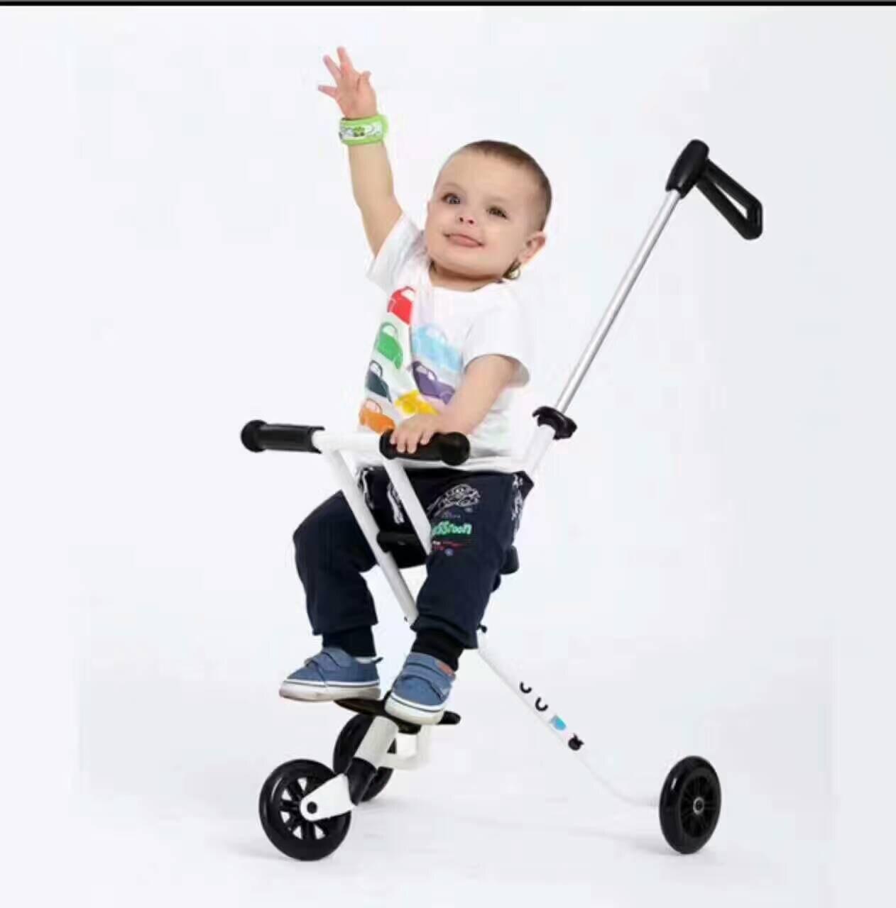 Lk710 три ПУ Колёса Детский самокат складной Сталь ноги самокат белый Детские коляски для 0-3 лет 30 кг подшипник ...