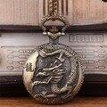 Venta caliente del zodiaco Poder alivio Dragón reloj de bolsillo colgante collar de la joyería clásica de amigo regalos de navidad N0393