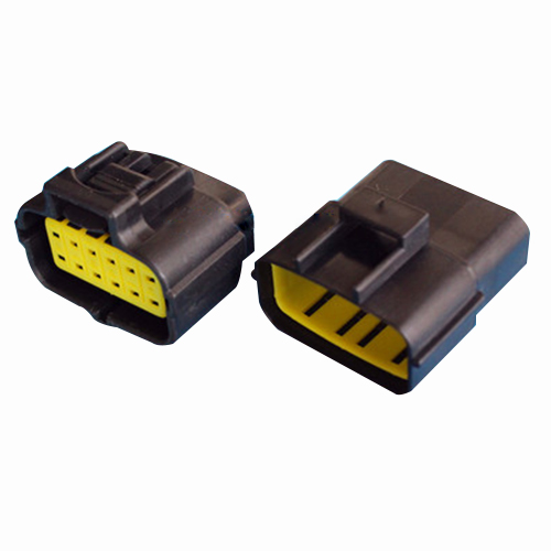 New Black Waterproof Electrical Wiring ELECTRICAL WIRING Multi connectors 2 3 4 6 PIN Size: 12 Pin Sets: 2 Sets [vk] 553602 1 50 pin champ latch plug screw connectors