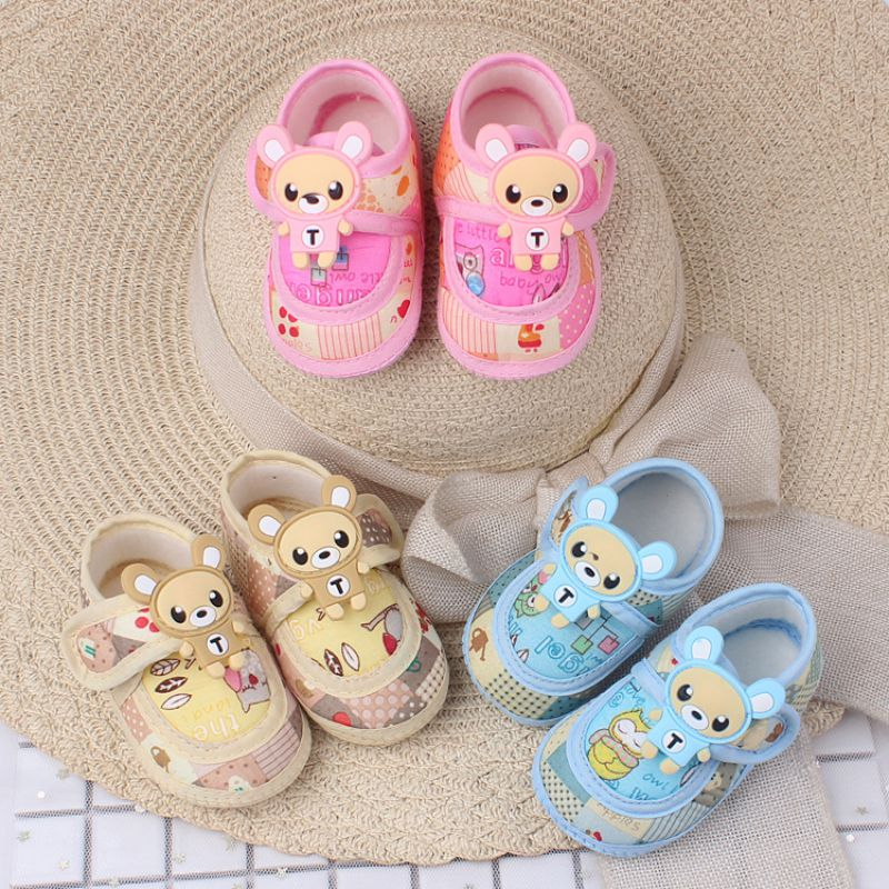 Spring Autumn Baby Girls Boys Breathable First Walkers Soft Bottom Non-slip Low Tube Toddler Shoes Baby Shoes 0-1Y
