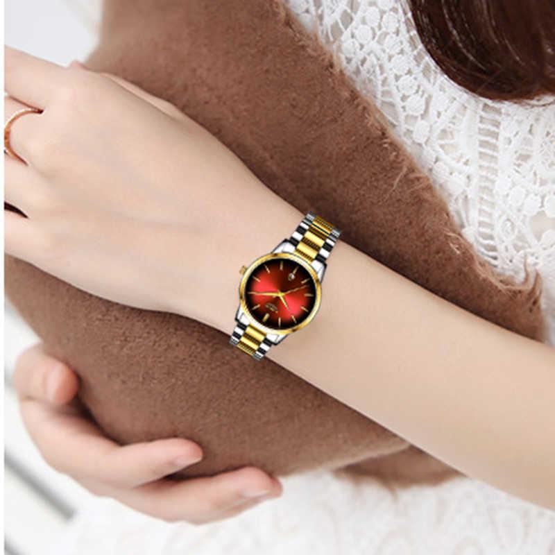 אופנה נשים קוורץ שעון גבירותיי ליגע למעלה מותג יוקרה נשים שעון נירוסטה עמיד למים ילדה שמלת שעון Relogio Feminino