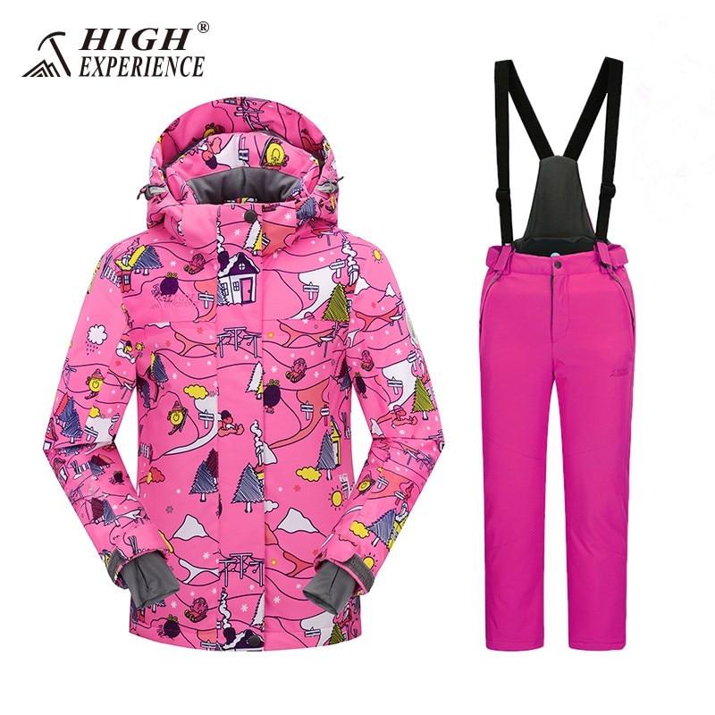 Russe Ski Costumes Pour Filles Enfants Snowboard Costumes de Garçon D'hiver Vestes Pantalon Étanche Sport Costumes Pour Garçons Habineige 3 t 6 t