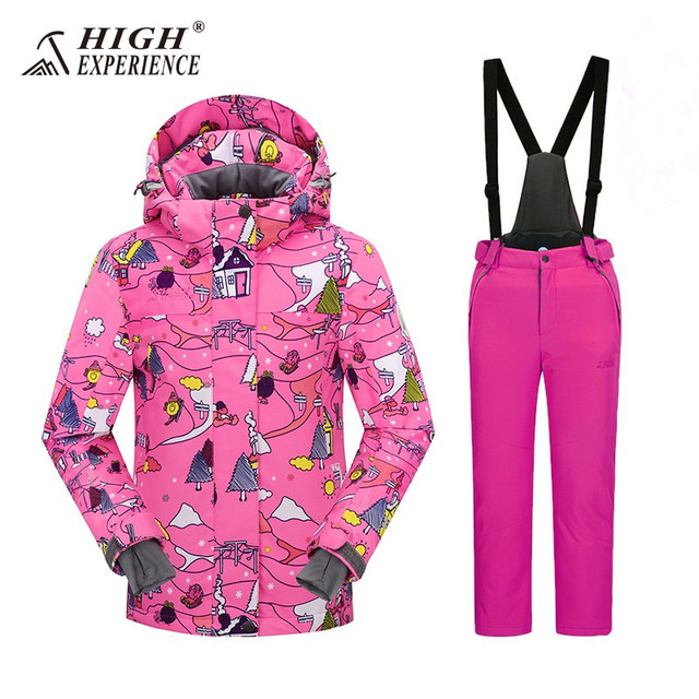 bb2952f0 Russian Ski Suits For Girls Kids Snowboarding Suits Boy's Winter Jackets  Pants Waterproof Sport Suits For Boys Snowsuit 3T 6T