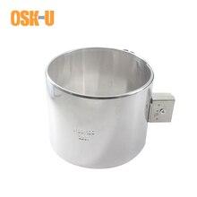 Paslanmaz çelik elektrikli endüstriyel ısıtma elemanı 120mm ID 50/60/70/80mm yükseklik seramik bant ısıtıcı watt 550/ 650/750/900W
