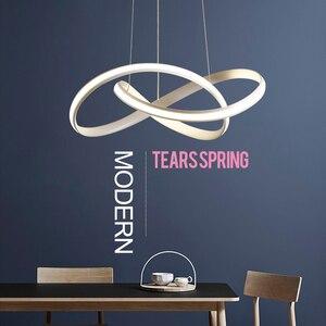 Image 3 - Candelabro led moderno para cocina, comedor, sala de estar, colgante luminaria de suspensión, candelabros de dormitorio blanco y negro, accesorios