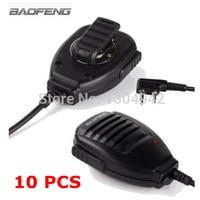 10 PCS Baofeng Microphone Speaker Mic For Two Way Radio Kenwood BAOFENG UV 5R 5RA 5RE Plus Walkie Talkie Portable Accessories