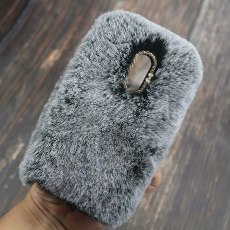 Fluffy Case for LG Q7 Q6 G7 G6 G5 G4 V30 V20 Stylo 4 3 3D Cute Plush Fur TPU Diamond Jewelled Soft Phnoe Back Case Cover-in Half-wrapped Cases from Cellphones & Telecommunications