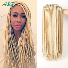 #613 Blonde Crochet braids faux locs crochet twist hair kanekalon haar extensions for black women 18″ 100g/pack fast shipping