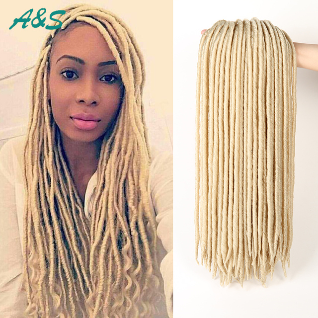 613 Blonde Crochet Braids Faux Locs Crochet Twist Hair Kanekalon