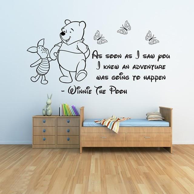 Winnie The Pooh Wall Stickers 3 Adesivi Da Parete Per Bambini