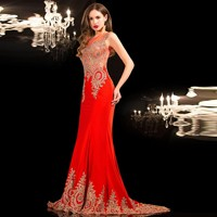 Ready-To-Ship-Stock-Black-Evening-Dresses-Mermaid-Long-Red-Dresses-Scoop-Court-Train-Abendkleider-long