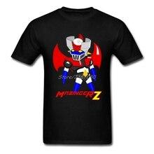 Mazinger Z T Shirt Custom Short Sleeve Men's T-shirt Hiphop Kpop Big Size Cotton  Funny T Shirts